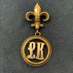 Mini craft vintage brooch pin LK